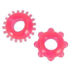 Krúžky na penis ružová DUO SADA 2ks
