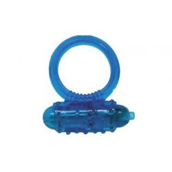 Krúžok na penis vibračný modrý MINI