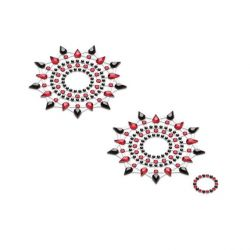 Lepítka GLORIA glittering jewelry black and red 2 ks