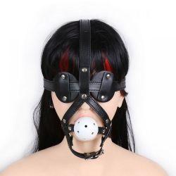 Kožená ohlávka s náhubkom BDSM Maska