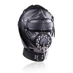 Depriváciou maska čierna s otvorom na penis BDSM FUN Cosplay