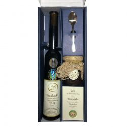 Darčekové balenie slamové víno Frankovka plus želé a malá lyžička